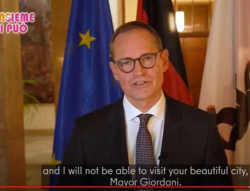 Il Sindaco di Berlino, Michael Müller, per il passaggio di testimone a Berlino