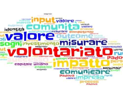 Domande e parole chiave su impatto e valore dell'impegno sociale